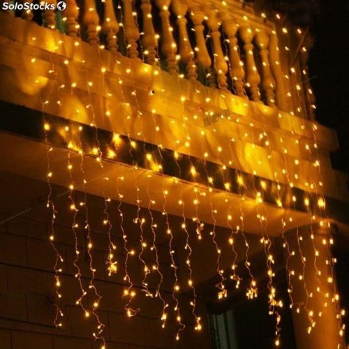 Luz led cortina 300l de 9 mtr medellin colombia for Cortinas con luces