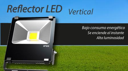 Reflector LED vertical