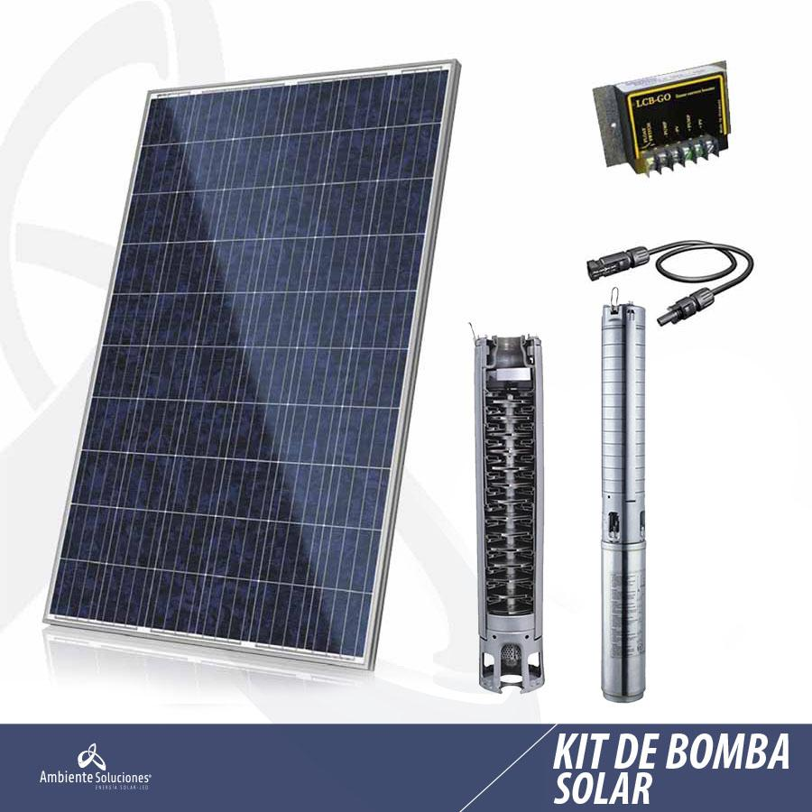 KIT 7 DE BOMBA SOLAR  /  100MT SUMERGIBLE  15.000LT