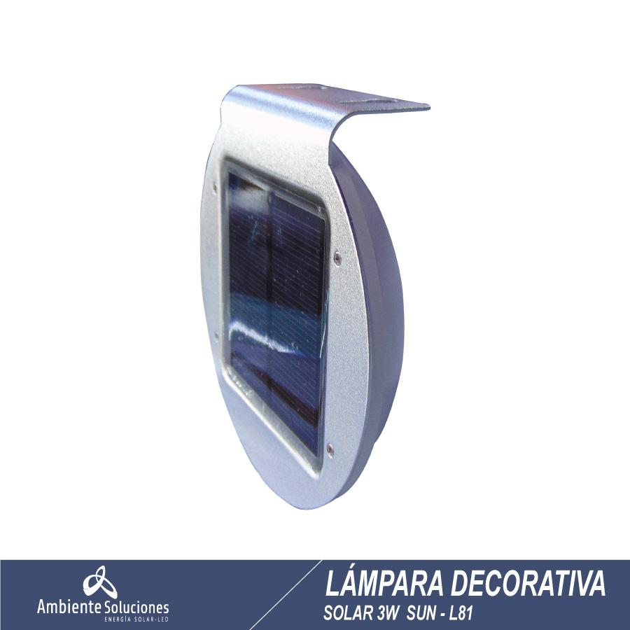 Lampara Solar Decorativa  Sun - L81